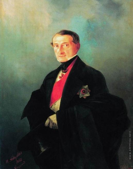 Айвазовский И. К. Портрет сенатора Александра Ивановича Казначеева (1788-1880), предводителя дворянства Таврической губернии