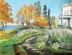 Жуковский С. Ю. Утро (Осень в усадьбе)
