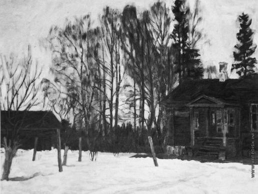 Жуковский С. Ю. Тоскливая нотка (Усадьба. Конец зимы)