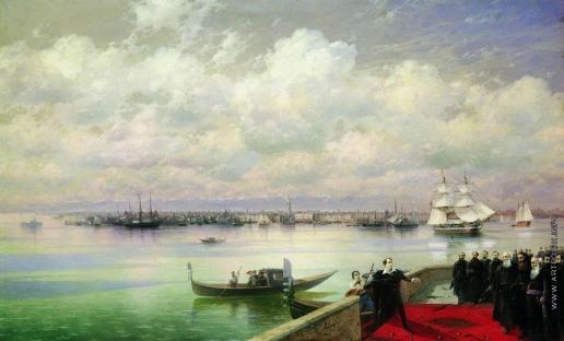 Айвазовский И. К. Посещение Байроном мхитаристов на острове св. Лазаря в Венеции