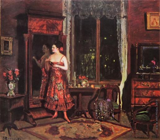 Жуковский С. Ю. Перед маскарадом (Портрет жены)