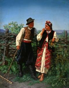 Трутовский К. А. У плетня
