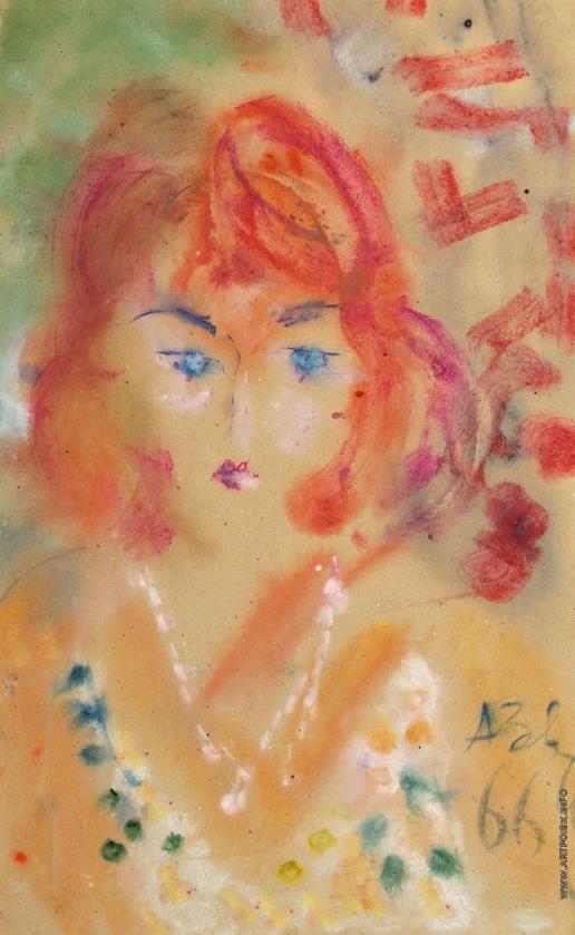 Зверев А. Т. Портрет рыжеволосой