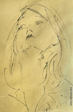 Зверев А. Т. Женский портрет