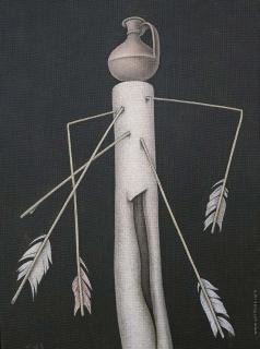 Краснопевцев Д. М. Натюрморт со стрелами