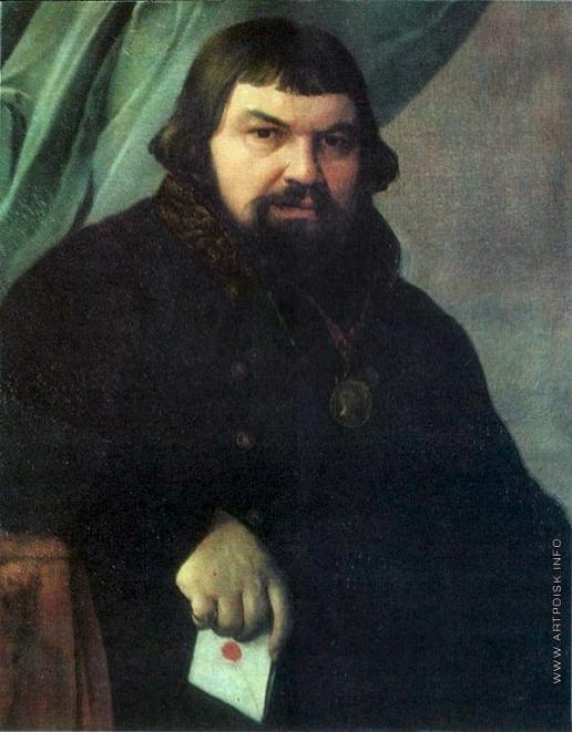 Венецианов А. Г. Портрет ржевского купца Образцова