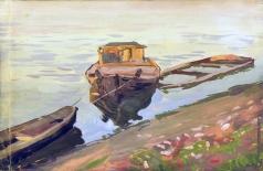 Южанин С. Н. Самара. Лодки у берега