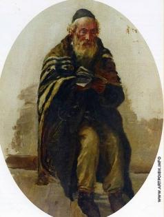 Южанин С. Н. Старый еврей.Этюд к картине «Субботняя молитва»