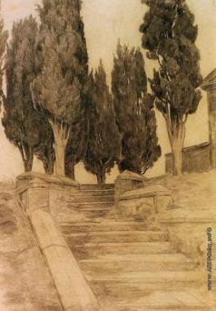 Южанин С. Н. Лестница с кипарисами