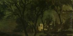 Южанин С. Н. Капри. Ночной пейзаж с виллой