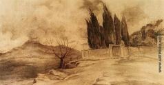 Южанин С. Н. Пейзаж с вулканом