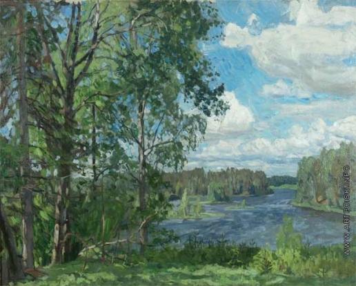 Жуковский С. Ю. Над озером. Ветреный день