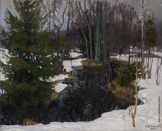Жуковский С. Ю. Родник в лесу