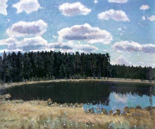 Жуковский С. Ю. Пейзаж с озером