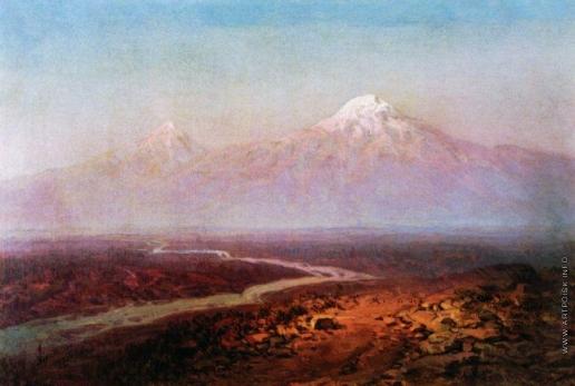Айвазовский И. К. Река Аракс и Арарат