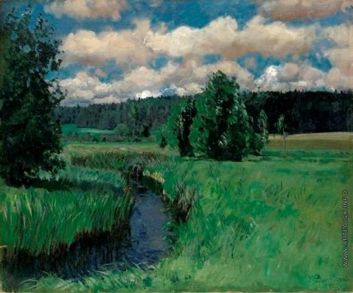 Жуковский С. Ю. Пейзаж с рекой