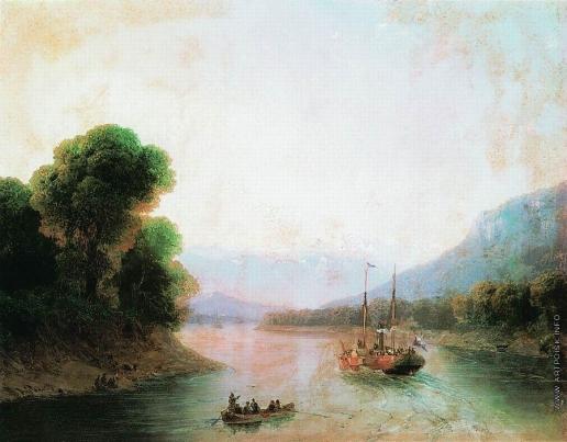 Айвазовский И. К. Река Риони. Грузия