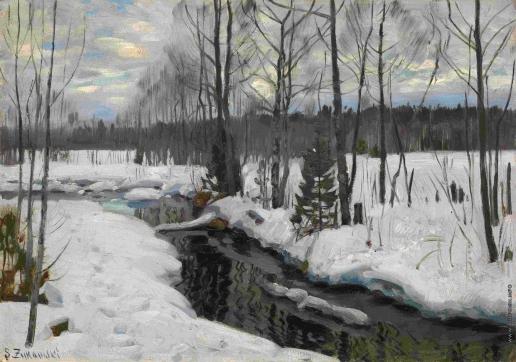 Жуковский С. Ю. У леса зимой