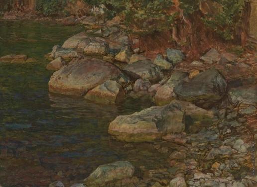 Иванов А. А. Вода и камни под Палаццуоло, близ Флоренции