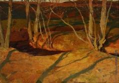 Рушиц Ф. Э. Осенний пейзаж. Закат