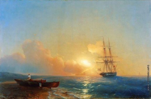 Айвазовский И. К. Рыбаки на берегу моря