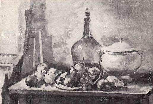 Шорчев А. П. Натюрморт с бутылью и фруктами
