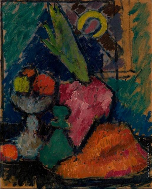 Явленский А. Г. Натюрморт с иконой и цветочный горшком