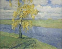 Бялыницкий-Бируля В. К. Тригорское. Береза у реки Сороть