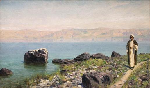Поленов В. Д. Христос на Тивериадском (Генисаретском) озере