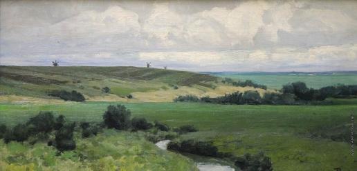 Поленов В. Д. Пейзаж с речкой