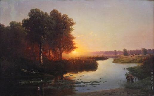 Атрыганьев Н. А. Вид на реку Остер в Могилевской губернии