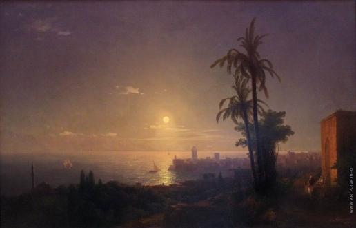 Айвазовский И. К. Ночь на острове Родос