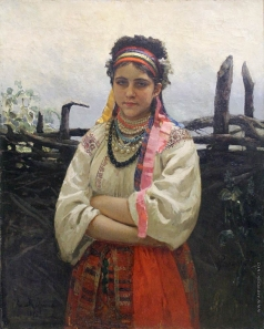 Репин И. Е. Украинка у плетня
