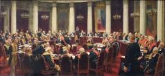 Кустодиев Б. М. Торжественное заседание Государственного Совета 7 мая 1901 года в честь столетнего юбилея