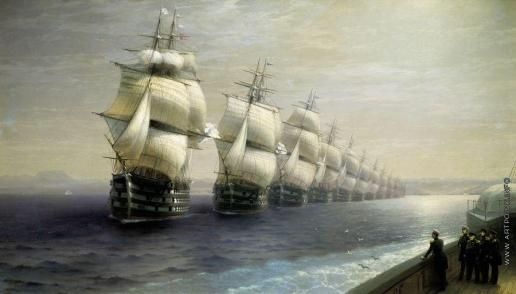 Айвазовский И. К. Смотр Черноморского флота в 1849 году