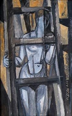 Эльконин В. Б. Обнажённая с лестницей