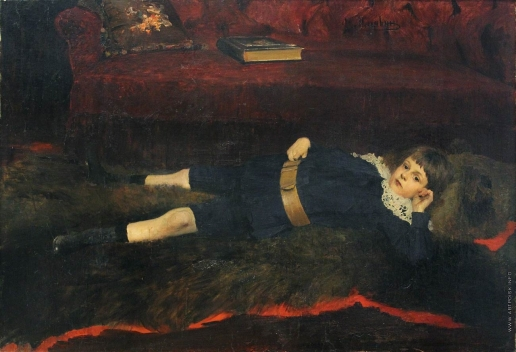 Малявин Ф. А. Мальчик на медвежьей шкуре