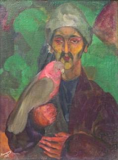 Анисфельд Б. И. Перс с попугаем