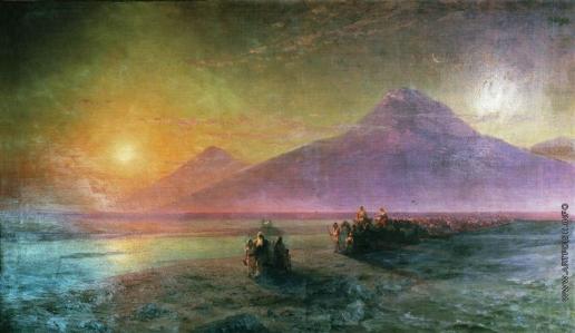 Айвазовский И. К. Сошествие Ноя с горы Арарат