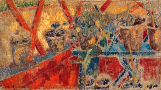 Ларионов М. Ф. Цветы на веранде