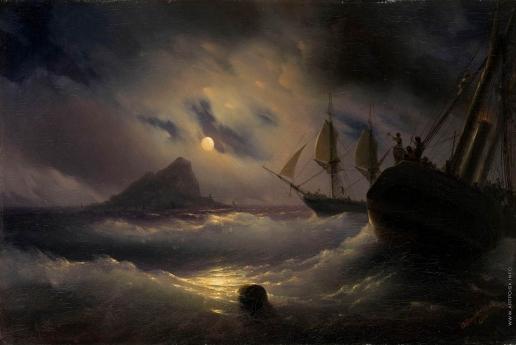 Айвазовский И. К. Гибралтар ночью