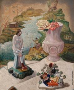 Судейкин С. Ю. Фарфоровые статуэтки и цветы