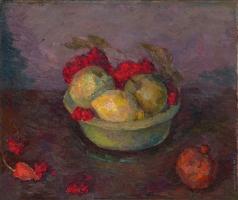 Фальк Р. Р. Натюрморт с ягодами рябины и фруктами