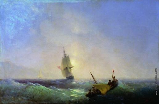 Айвазовский И. К. Спасающиеся от кораблекрушения