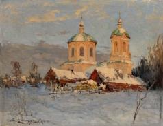 Шильдер А. Н. Деревенская церковь