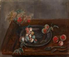 Григорьев Б. Д. Натюрморт с фруктами и цветами на столе