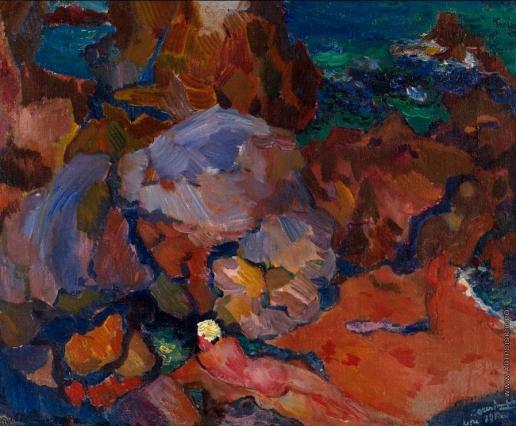 Анисфельд Б. И. Море и скалы, Капри (III)