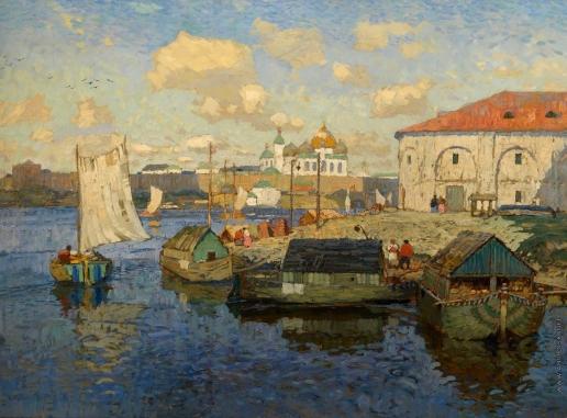 Горбатов К. И. Старый Новгород. Баржи