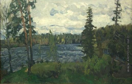 Жуковский С. Ю. Пасмурный день на озере