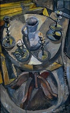 Эльконин В. Б. Подсвечник на круглом столике